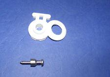 1 x Minax-Schnellverschluß Oberteil + Schraube für Stoff-Fest-Verbindung Weiß