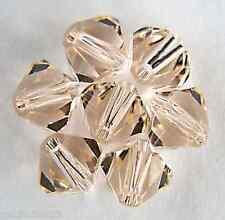 5 6 mm Swarovski 5301 Crystal Bicones -- Silk