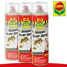 COMPO 3 x 500 ml Wespen Power-Spray 4M Bekämpfung Haus Garten Abwehr Terrasse