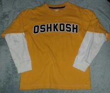 osh kosh b gosh cotton long steeved shirt. gold, white, navy
