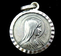 Blessed Virgin Mary Necklace Pendant Silver Lourdes Charm 925 Sterling Silver