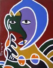 Abstrakte zeitgenössische künstlerische Malerei mit Acryl-Technik