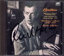 Richard Hickox firmato Britten Frank Bridge variations Simple Symphony CD ASV