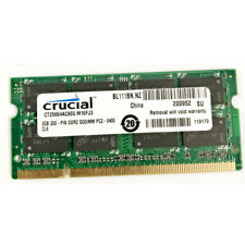 Rucial 2GB PC2-6400S DDR2-800MHz 200pin 1.8V Sodimm Laptop Notebook RAM Memory