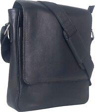 UNICORN Real Leather iPad, Kindle, Tablets & Accessories Messenger Bag Black #5F