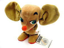 Vintage Kamar Nikky Miniature Plush Mouse Figure With Hang Tag Japan