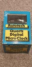 Extremely Rare Vintage Autotech Quartz Digital Micro Car Clock-classic car