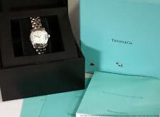 Baume Mercier Tiffany & Co Diamond Ladies Steel Wrist Watch Box Papers