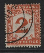South Africa Transvaal SG D3  EDVII  2d Brown Orange 1907   Fine Used