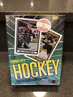 (1) 1990-1991 O-Pee-Chee Hockey Box 36 Packs From A Sealed Case Wayne Gretzky