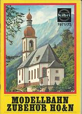 Katalog Kibri 1971/72 Modellbausätze Gebäude + Zubehör in HO 1:87 N