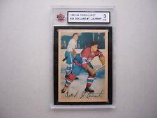 1953/54 PARKHURST NHL HOCKEY CARD #23 DOLLARD ST. LAURENT KSA 3 VG NICE!! PARKIE