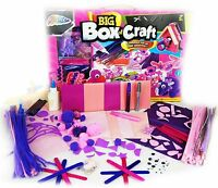 PINK BIG Box Of Craft Childrens Girls GIANT Art Set 100+ Make Your Own Items 5y+