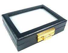 TOP GLASS JEWELRY GEM DISPLAY BOX SHOW CASE GOLD CLASP LOCKER 8X10CM 3.1X3.9INCH