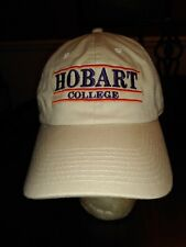 Hobart College Ball Cap New York in Khaki Tan Unsized 100% Cotton NEW