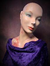 Vintage 30s 40s Creepy Mannequin Female Torso Distressed Plaster Bust Oddity Art