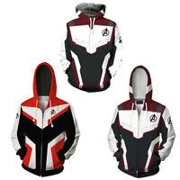 The Avengers 4 Endgame Mens 3D Cosplay Hoodies Sweatshirt Jacket Pullover Coat