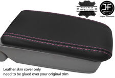PINK STITCH REAL LEATHER ARMREST LID COVER FITS SUBARU FORESTER SG9 2006-2008