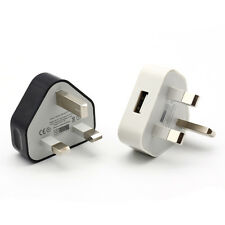 UK Mains Wall 3 Pin Plug Adaptor Charger With USB Ports For Phones Tablets Tool