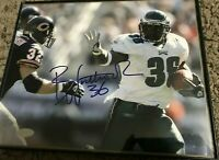 Authentic Brian Westbrook Eagles Framed Hand Signed Photo 8X10 COA