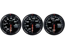 DEFI WHITE RACER 52MM 3 GAUGES SET (TURBO BOOST/OIL PRESSURE/WATER TEMPERATURE)