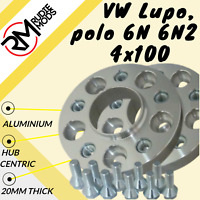 VW Lupo and Polo 6N 6N2 4x100 20mm Hubcentric Wheel spacers 1 pair inc bolts