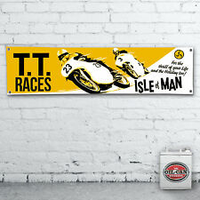 ISLE OF MAN TT RACES Banner  –  heavy duty for workshop, garage, motorbike