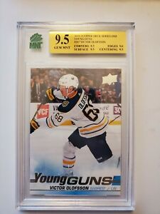 2019-20 UPPER DECK 207 VICTOR OLOFSSON YOUNG GUNS YG MNT 9.5 GEM GRADED