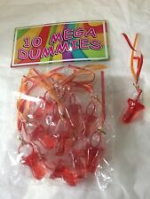 10 x Bags of 10 Mega Dummies.Great for Baby shower..parties..hen nights..B/days