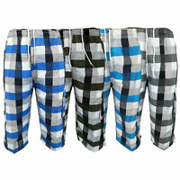 Mens Checked Shorts Combat Cargo 3/4 Length Tartan Sports Beach Casual Summer
