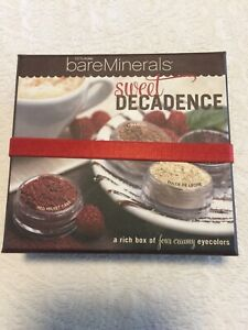 BARE ESCENTUALS bare Minerals SWEET DECADENCE 4pc Eyecolors + Eye Brush NEW