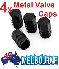 4X Metal Black Car Truck Bike Tire Wheel Rims Stem Air Valve Caps Tyre Cover