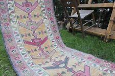 """Vintage Turkish Handmade  Oushak Runner Rug  11'6""""x2'10"""""""