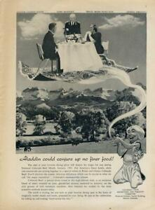 1960 Colorado State Advertising PRINT AD Aladdin could conjure up no finer food