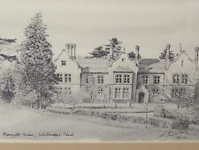 Signed Limited Edition Print of Marryott House Woodbridge School  by Mick Ewins