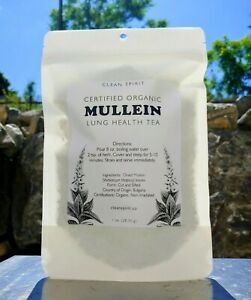 Organic Mullein Leaf 1 oz Lung Health, Antibacterial, Antiviral Tea (Cut/Sifted)