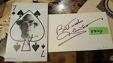 Glen Ford Western Poker Face King of Clubs and 3 by 5 auto Card 1950's