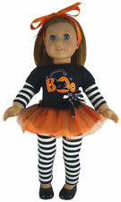 """Halloween Black Cat BOO Costume fits 18"""" American Girl Doll Clothes"""