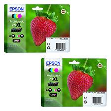 2 Sets T2996 XL Genuine Epson XP-235 XP-332 XP-335 XP432 XP-435 Ink Cartridges