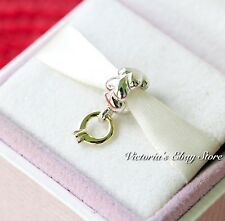 "Authentic Pandora Sterling Silver & 14k Gold Dangle ""I Do"" Diamond Bead 790999D"