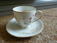 Germany Import porcelain tea pair cup saucer plate white gold handmade Bavaria 2