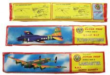 2 ASST LARGE FLYING 12 IN WORLD WAR II BOMBER GLIDER PLANE W MOVING PROPELLERS