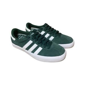 Adidas SKATE Forest Green White Metallic Gold Skate Men's Shoes size 8