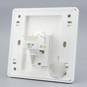Wall Face Plate One Port Socket Telephone Jack CAT3 Panel Faceplat RJ11