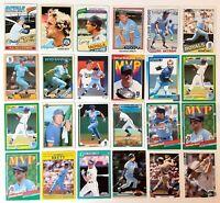1977 Topps #580 George Brett Kansas City Royals HOF 1978 #100 1980 #450 Lot (24)