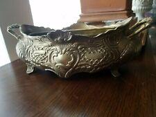 """Stunning Vintage Solid Brass Jardiniere Baroque style Cachepot 14"""" Heavy"""