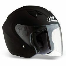 Plain Matt HJC Helmets with Integrated Sun Visor