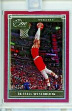RUSSELL WESTBROOK 2019-20 Panini ONE and ONE Encased RED Refractor Sp 14/15