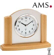 AMS 5123/18 Tischuhr Funk Massivholz buche