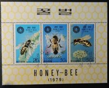 Korea 1979 MS honey bee used insects flowers
